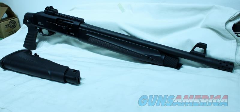 Iver Johnson HP18 PG/RC 12ga shotgun semi auto as new pistol grip rail choke  Guns > Shotguns > Iver Johnson Shotguns