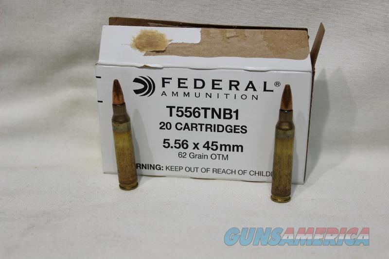 Federal T556tnb1 62gr 5.56 Blind Barrier 20rds NEW  Non-Guns > Ammunition