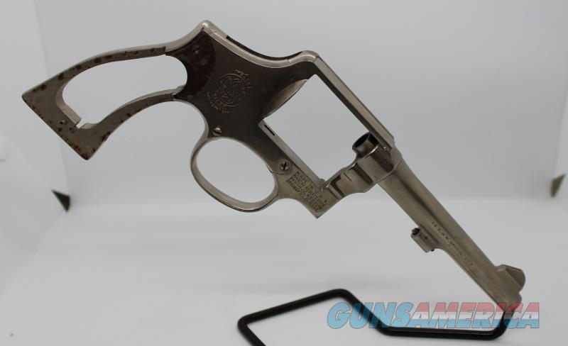 """S&W 10-5 38spl 5"""" nickel frame only used not 66  Guns > Pistols > Smith & Wesson Revolvers > Model 10"""
