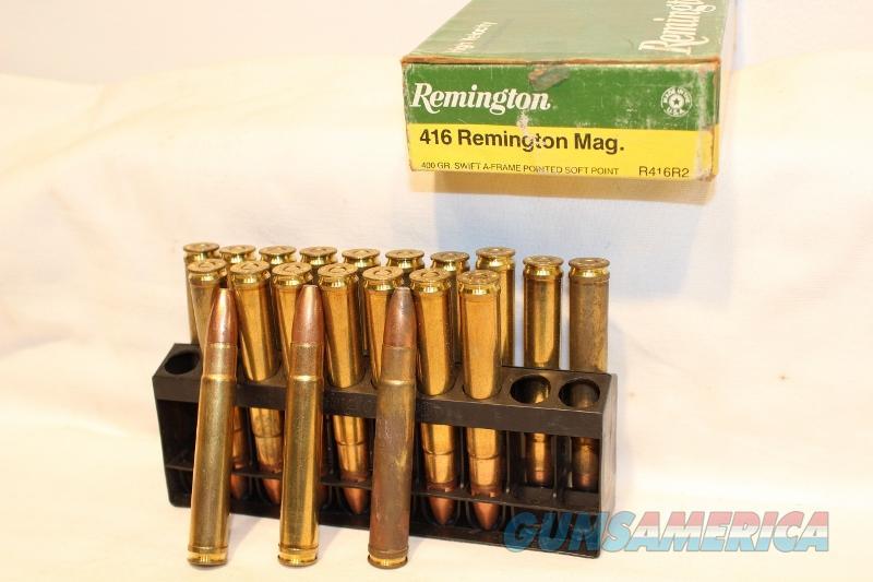 Remington 416 rem mag dangerous game 400gr Swift A frame NEW NOS  Non-Guns > Ammunition