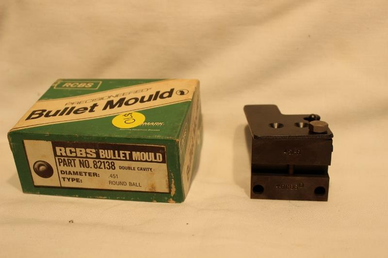 RCBS 451 round ball bullet mold new  Non-Guns > Bullet Making Supplies