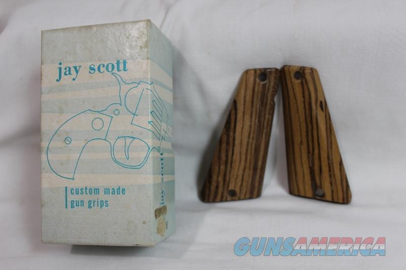 Jay Scott Polish Radom 1930 9mm Zebra wood grips NEW  Non-Guns > Gunstocks, Grips & Wood