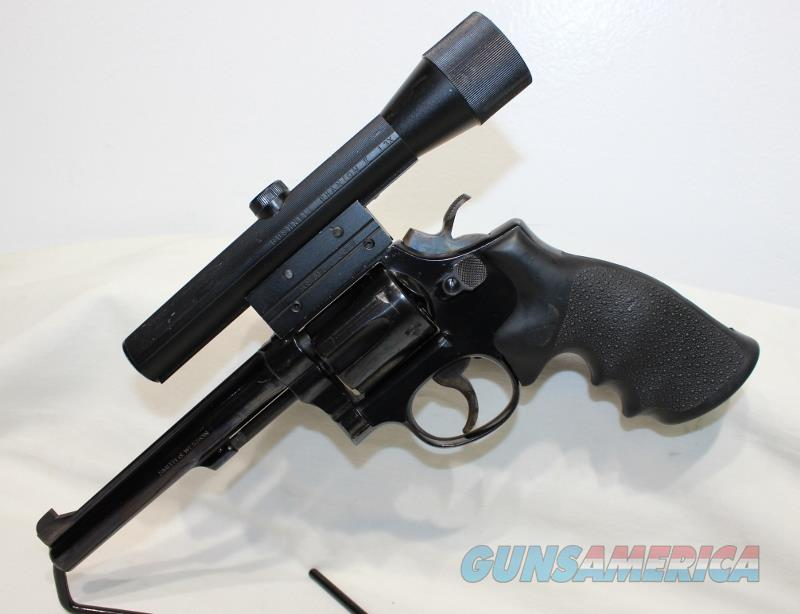 S&W model Pre 17 22LR masterpiece 1957 K22 with scope  Guns > Pistols > Smith & Wesson Revolvers > Full Frame Revolver