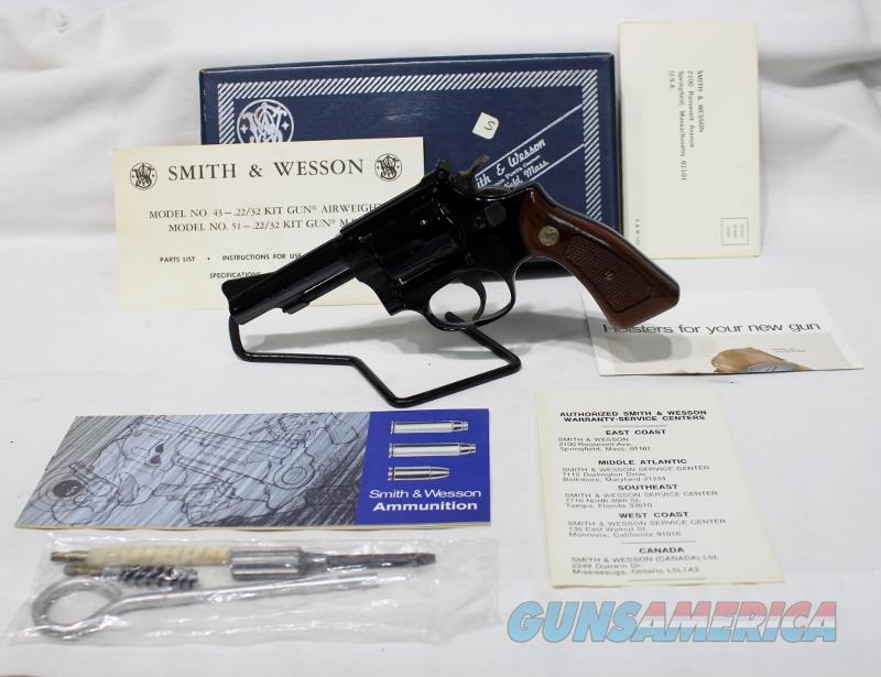 "S&W 43 22MRF 22WMR 22/32 kit 3.5"" NEW Airweight  Guns > Pistols > Smith & Wesson Revolvers > Pocket Pistols"