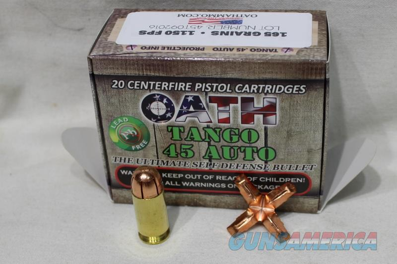 Oath 45acp Tango 165gr AMMO NEW not black talon  Non-Guns > Ammunition