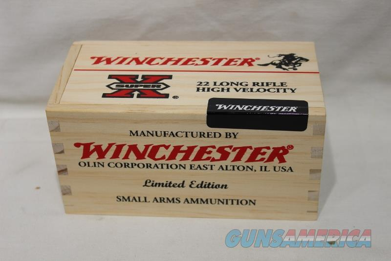 Winchester 22LR wooden box limited edition 500rds  Non-Guns > Ammunition