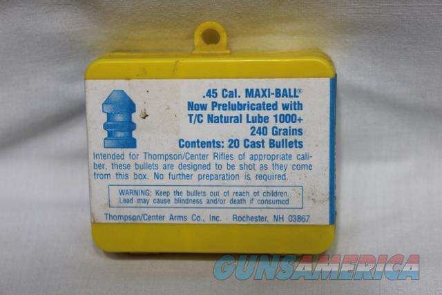 Thompson Center 45 maxi ball pre lubricated 240gr TC NEW  Non-Guns > Black Powder Cartridge