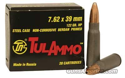 7.62x39 122gr JHP TulAmmo (20 Rnd Box) for AK/SKS chambered in 7.62x39  Non-Guns > Ammunition