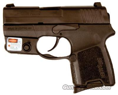 "Sig Sauer® P290® Sub-Compact - Re-Strike Design w/2.9"" Brl, Integrated Detach LASER MODULE, Blk/Nitron®, SIGLITE Night Sights, 1-6 Rnd, 1-8 Rnd Mag, Holstr, & Hard Case  Guns > Pistols > Sig - Sauer/Sigarms Pistols > P290"