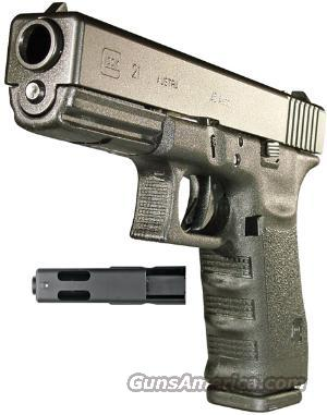 "Glock G21 C (Compensated), .45 ACP, 4.6"" Brl, 2-13 Rnd Mags, Mag Ldr, Bore Brsh w/Rod, FC, Lock, & Hard Case - New  Guns > Pistols > Glock Pistols > 20/21"