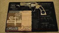 Colt Python 4 inch Nickel!!!!  Guns > Pistols > Colt Double Action Revolvers- Modern