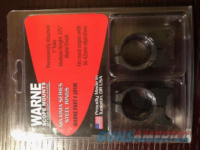 "Warne Maxima Series Steel Scope rings, 1"" MED, Matt   Non-Guns > Scopes/Mounts/Rings & Optics > Mounts > Traditional Weaver Style > Flat"