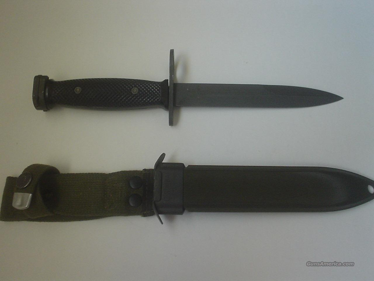NEW Colt M7 bayonet with M8A1 sabbard all MADE in Germany ***New***  Non-Guns > Knives/Swords > Military > Bayonets