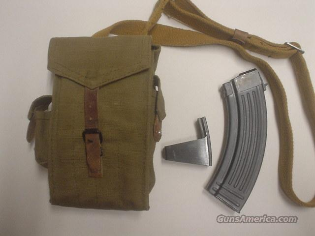 4 NEW AK 47 30 rnd mags + Rare Original Military canvas mag pouch and original speedloader  Non-Guns > Magazines & Clips > Rifle Magazines > AK Family