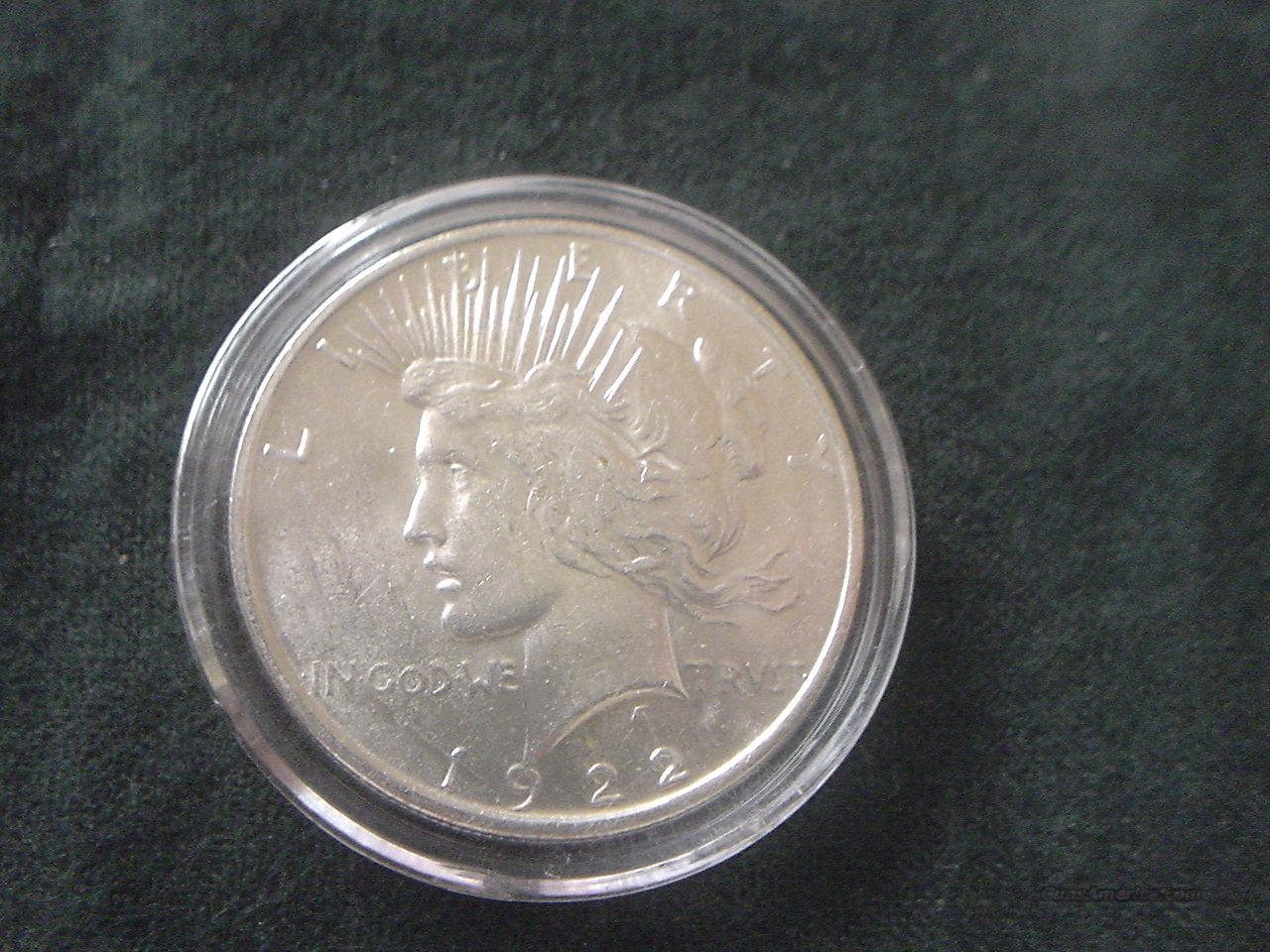 1922 D Peace Dollar BU  Non-Guns > Coins