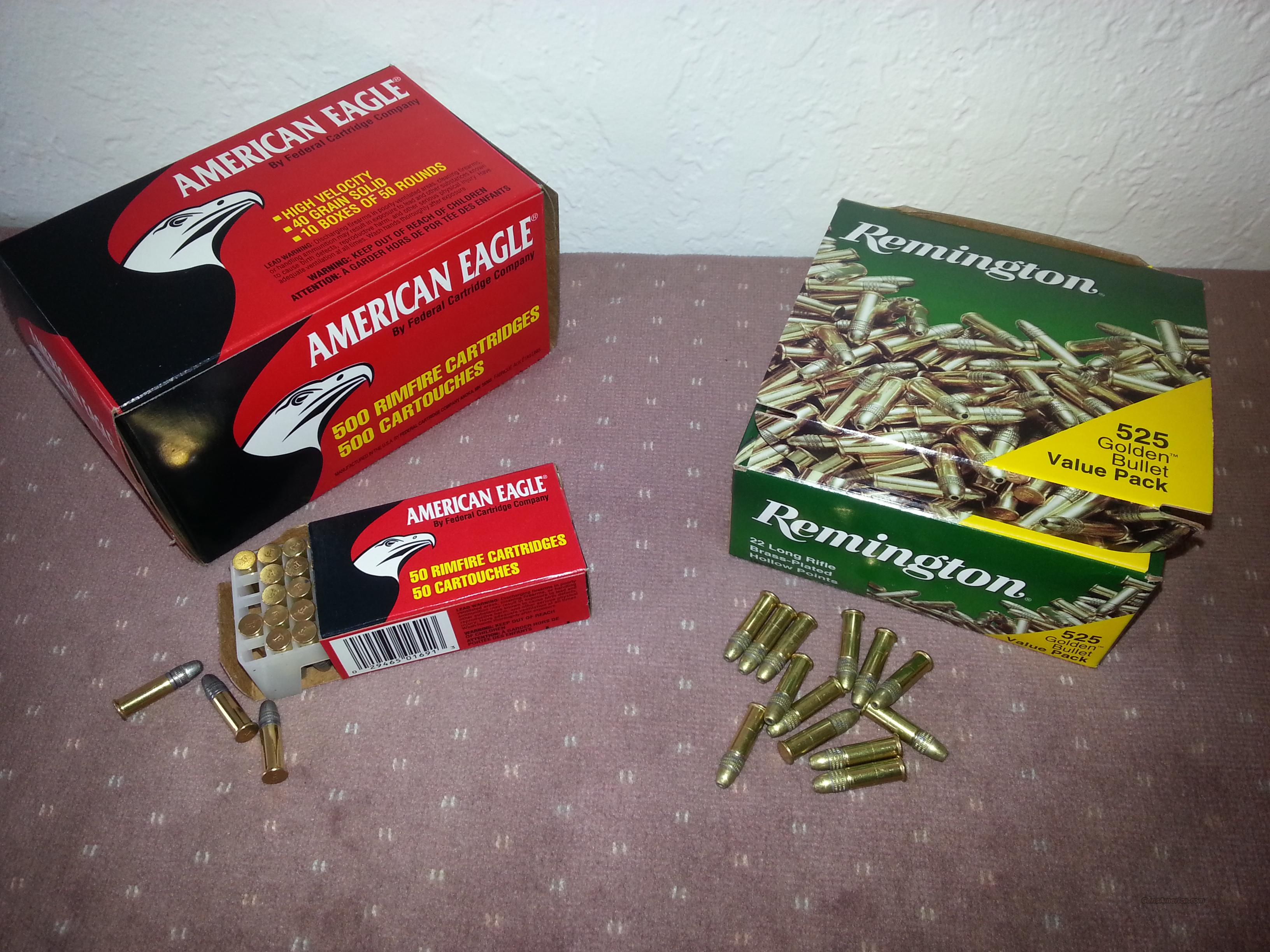 .22 LR Lead Points 40  Grain 500 Rounds per brick AND .22 LR Hollow Points 36  Grain 525 Rounds per brick  Non-Guns > Ammunition
