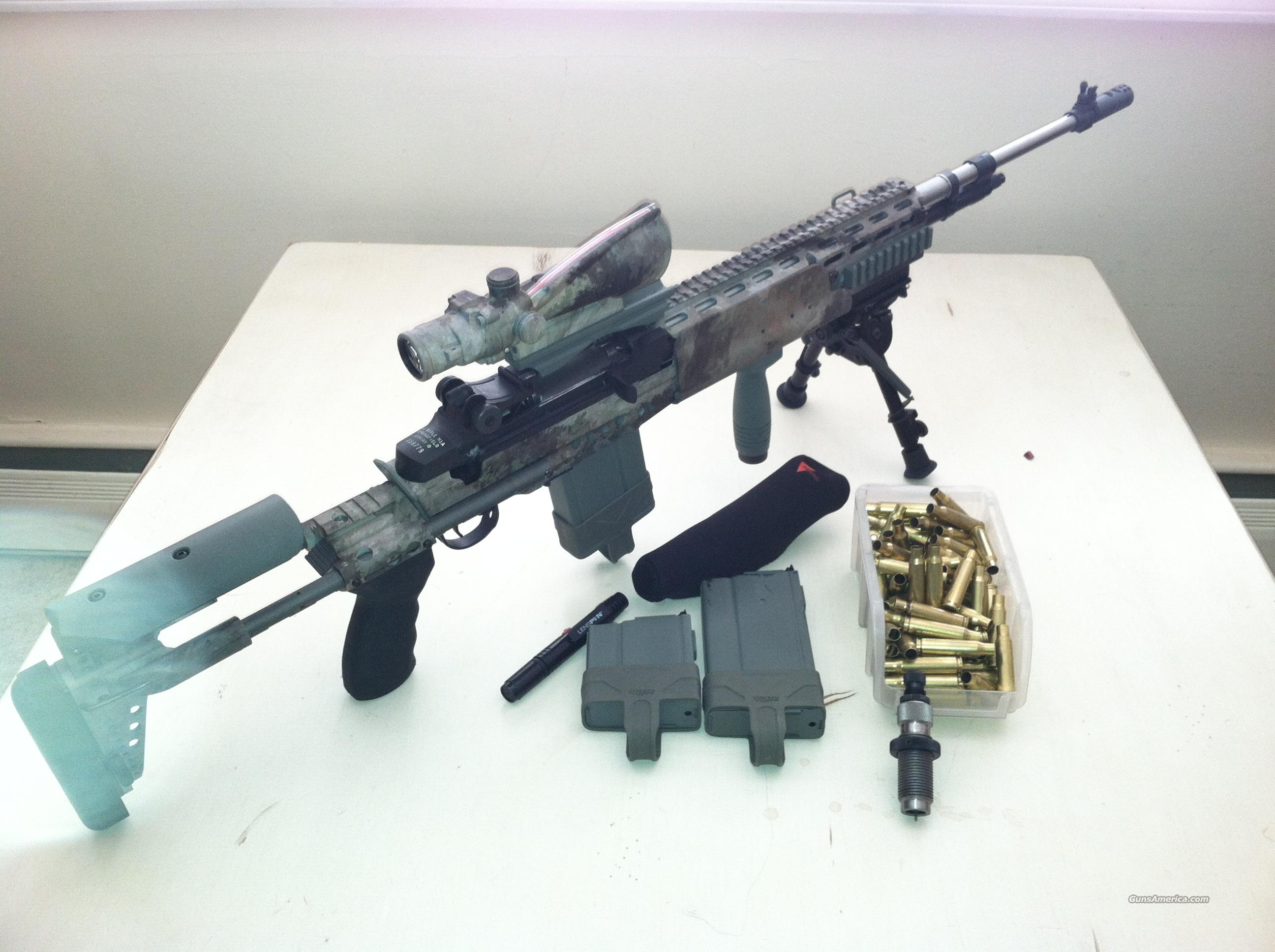 M1A LOADED MODEL MA9826 IN SAGE EBR CHASSIS AND ACOG SCOPE  Guns > Rifles > Springfield Armory Rifles > M1A/M14