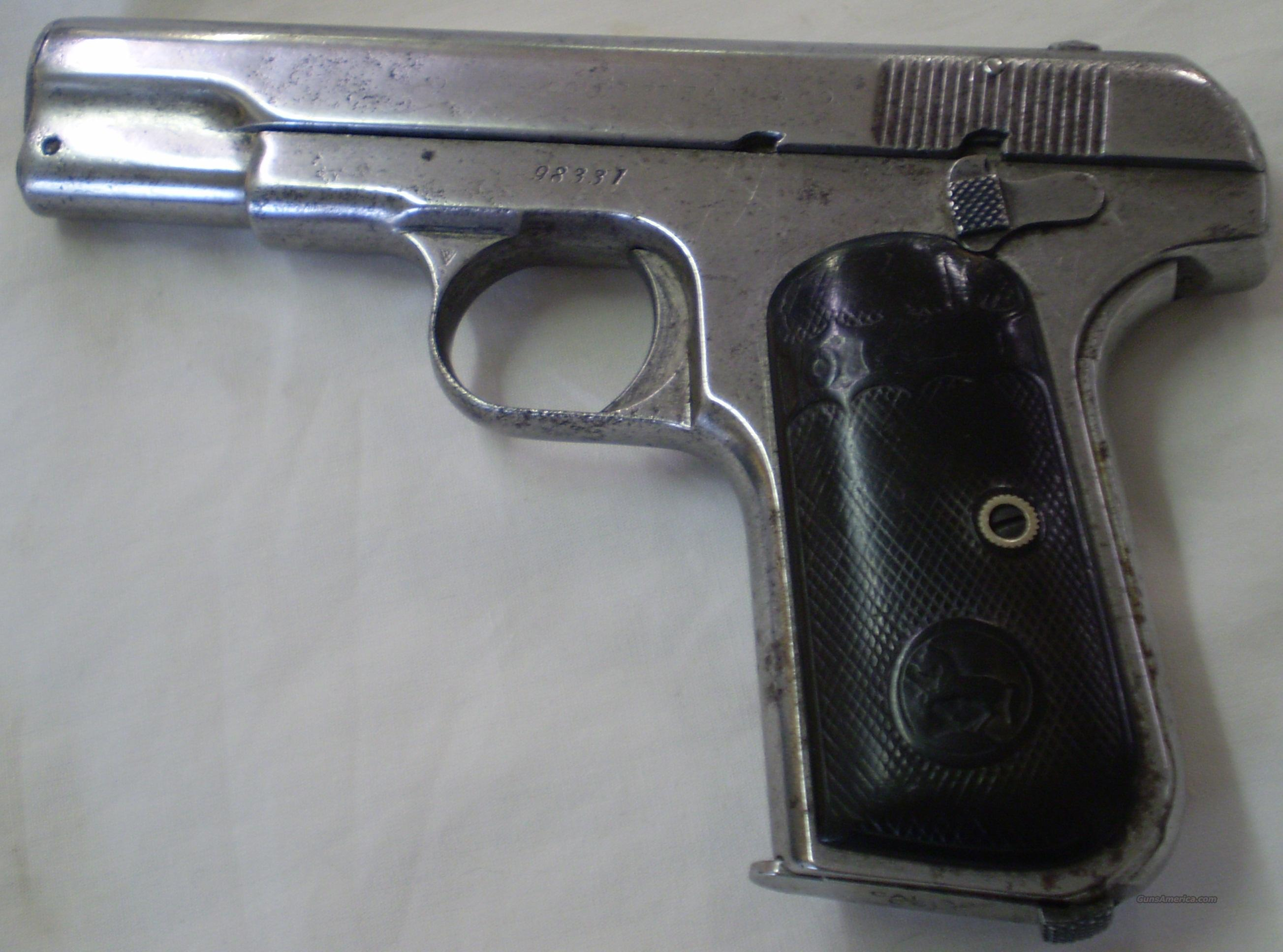 Colt Model 1903 .32 Hammerless (1910 Made)  Guns > Pistols > Colt Automatic Pistols (.25, .32, & .380 cal)