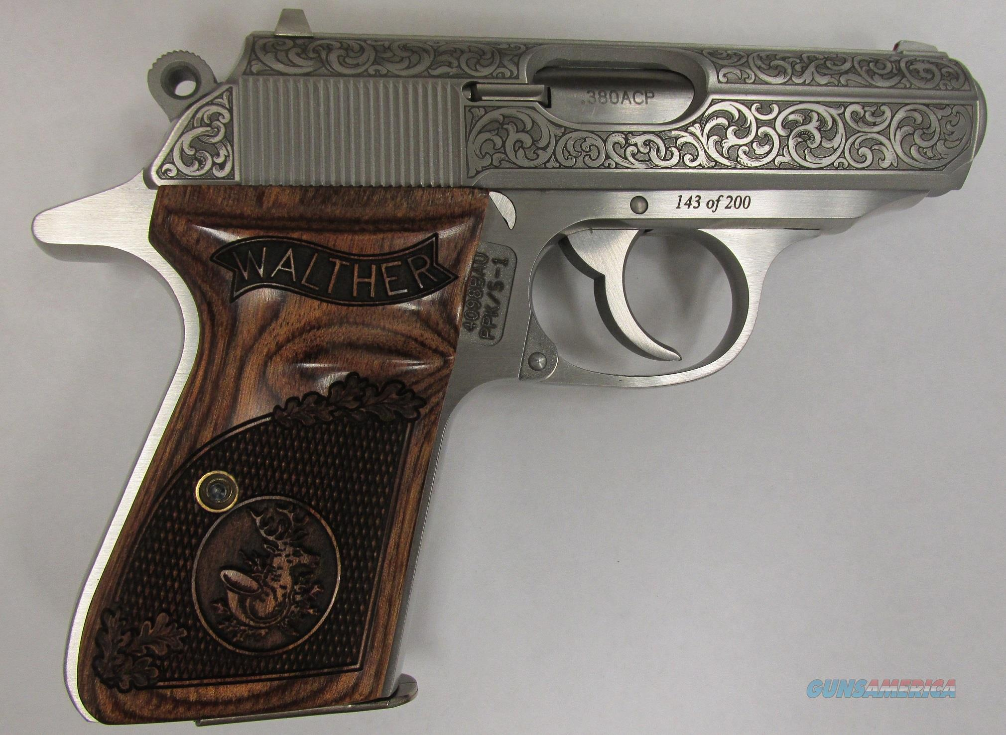 Walther PPK/S Limited Edition Talo Ernst Engraved 380  Guns > Pistols > Walther Pistols > Post WWII > PPK Series