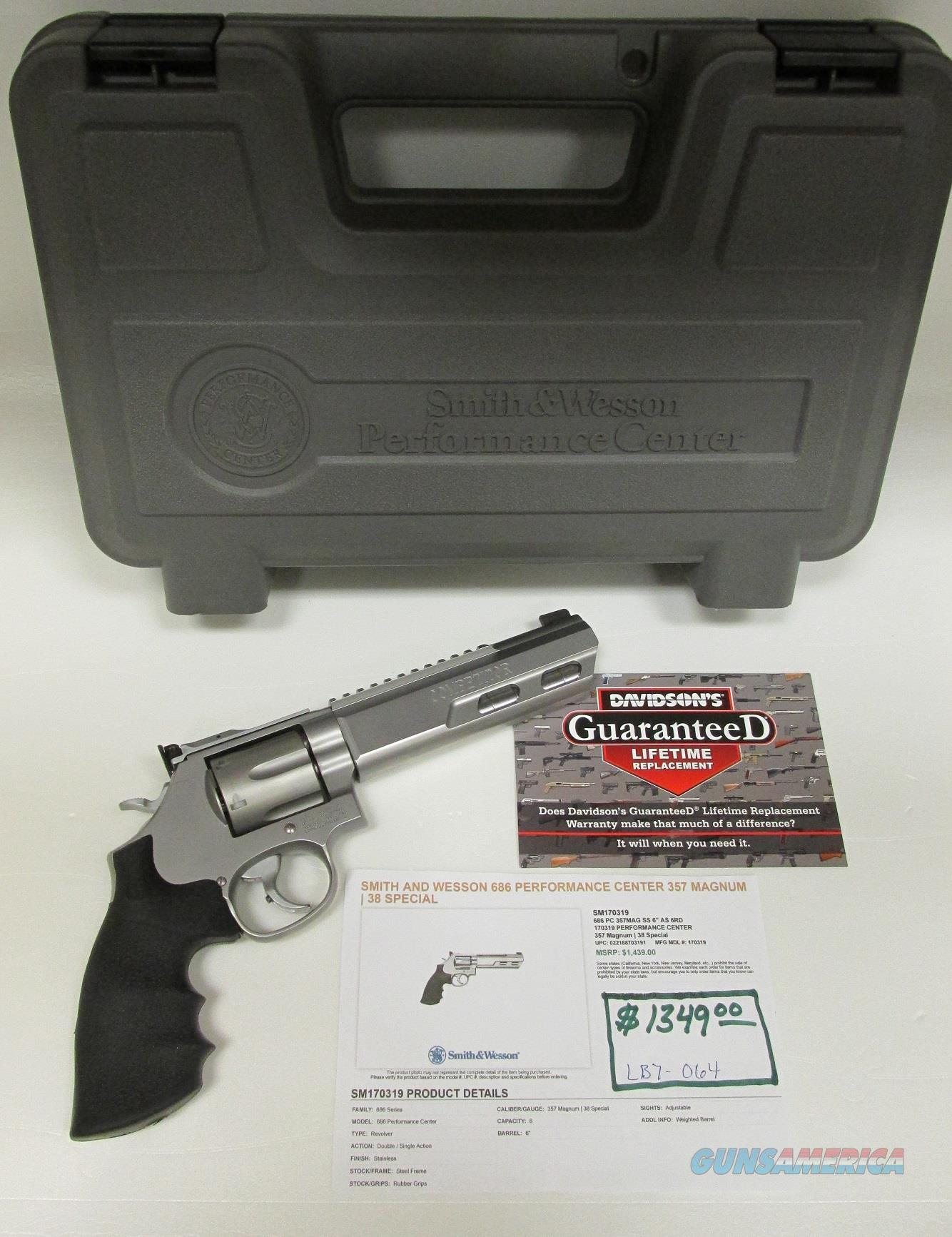 S&W Performance Competitor 357Mag M686 Weighted Barrel  Guns > Pistols > Smith & Wesson Revolvers > Performance Center