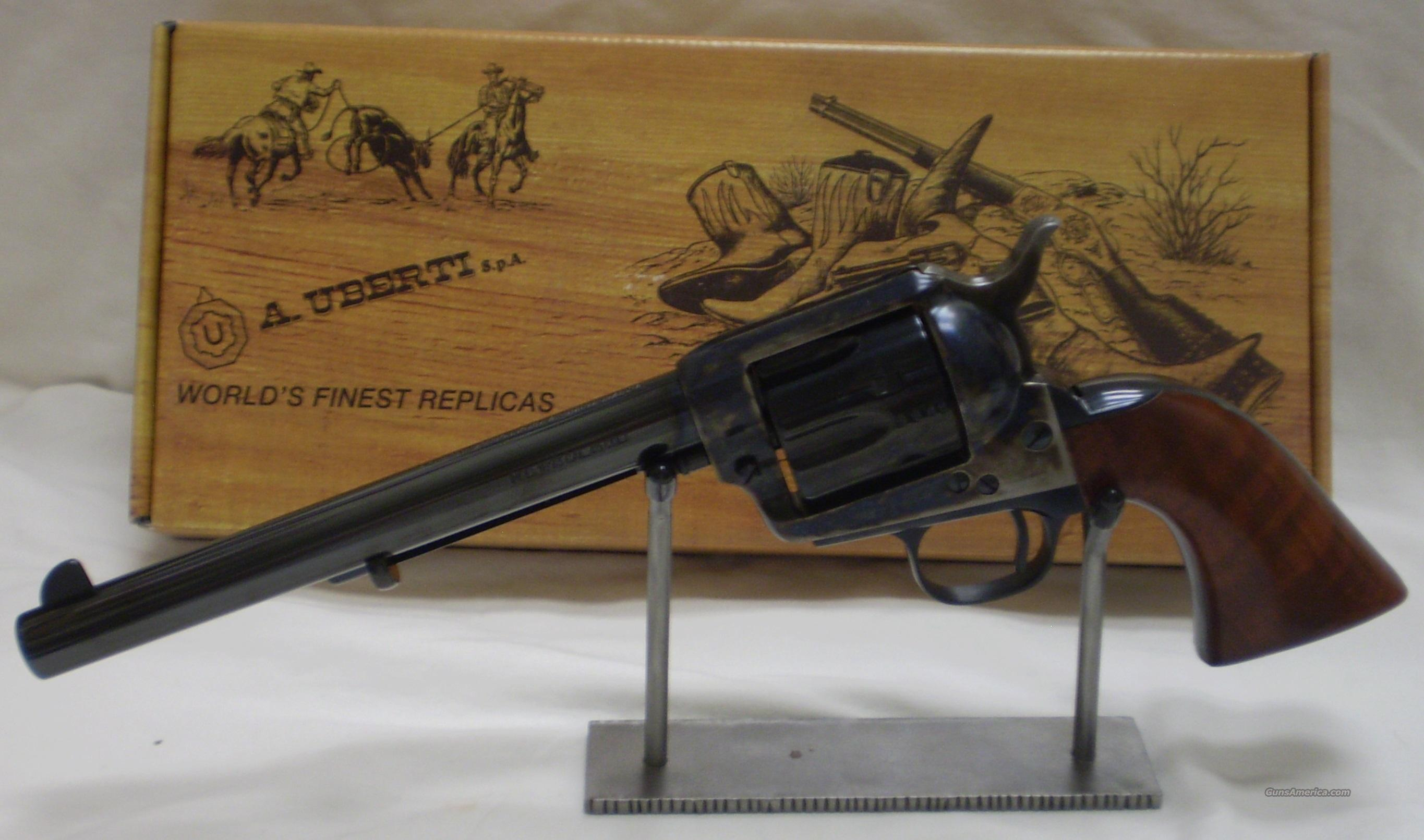 "Uberti 1873 Cattleman NM Steel Revolver U344150, 45 Colt, 7.5"", One Piece Walnut Stock, Blued Finish  Guns > Pistols > Uberti Pistols > Ctg."