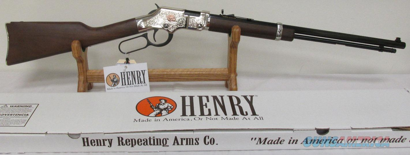 Henry American Beauty Engraved/Copper Rose/Octagon/Serial No. 34 ! 22L,S,LR  Guns > Rifles > Henry Rifle Company