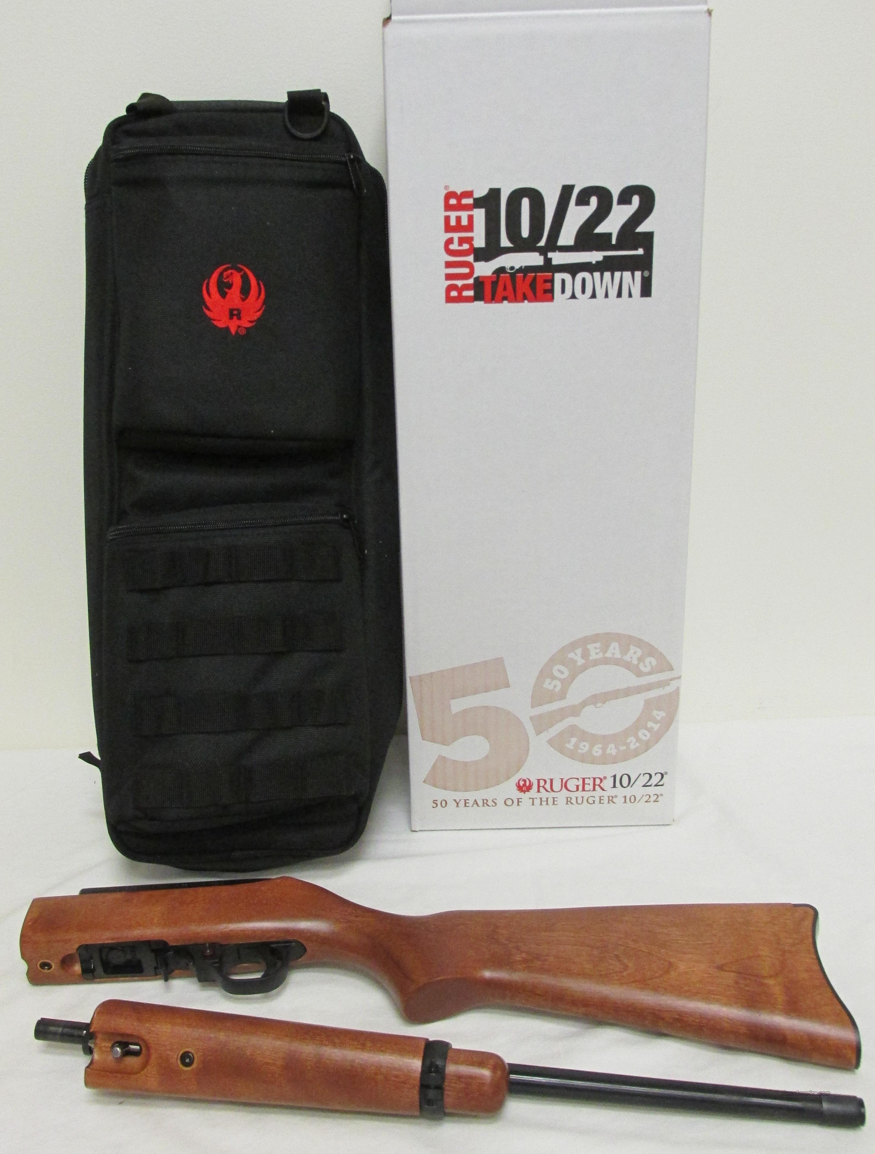 Ruger 10/22 Takedown Wood 50th Anniversary 11167 Talo Exclusive Includes Backpack, Special SN  Guns > Rifles > Ruger Rifles > 10-22