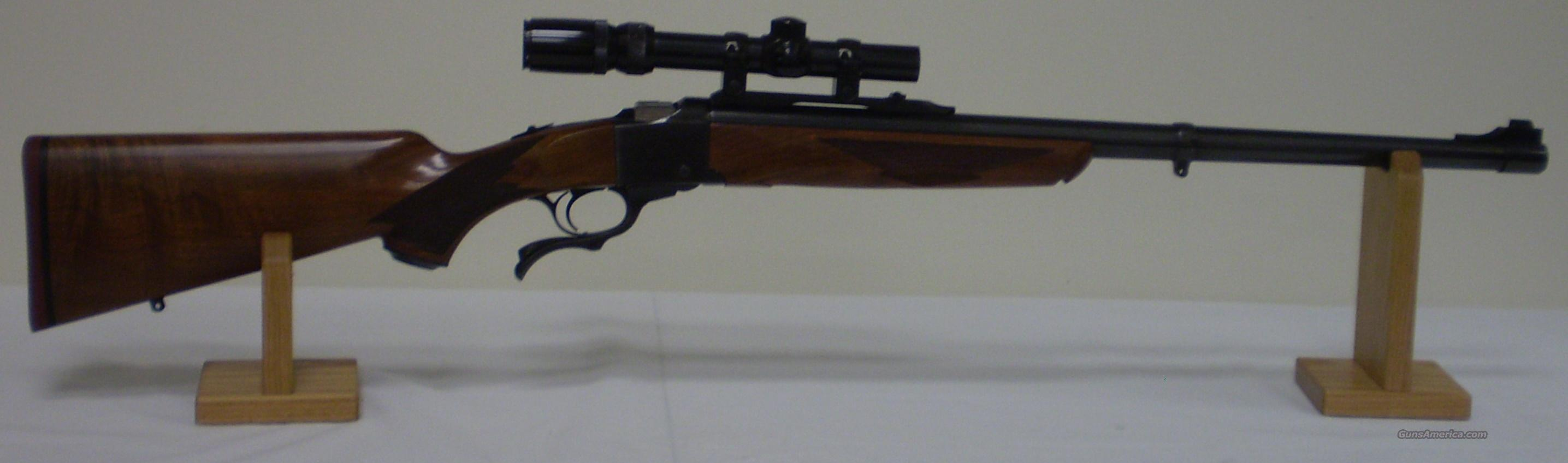 Ruger No 1 Tropical 458 WinMag (1985) w/Scope  Guns > Rifles > Ruger Rifles > #1 Type