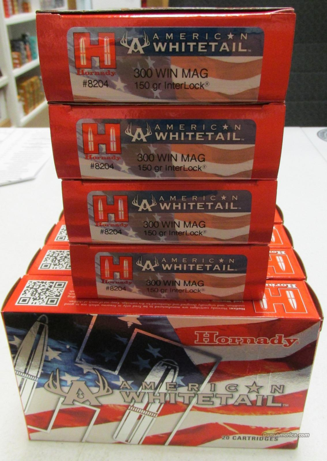 Hornady American Whitetail 300 Win Mag 150 gr (200 Rounds) 10 Boxes #8204  Non-Guns > Ammunition
