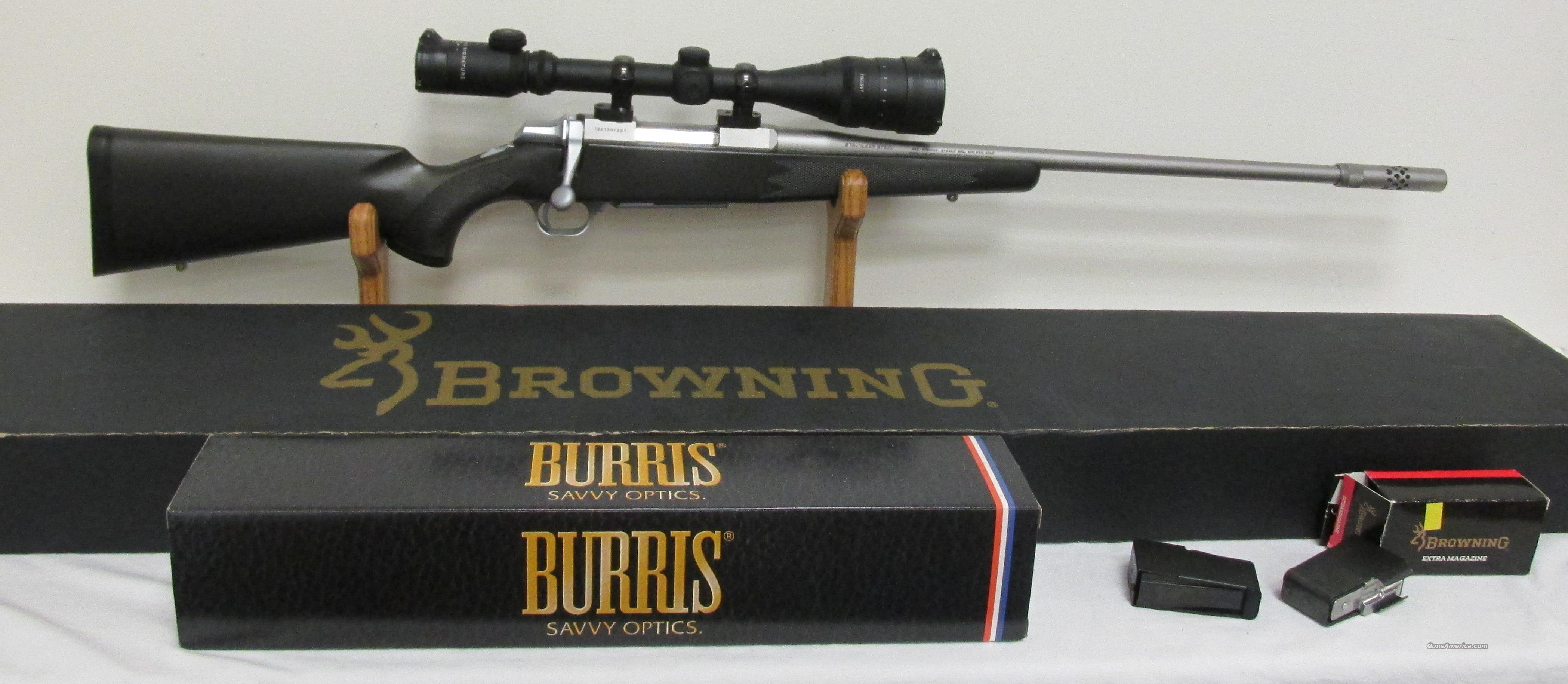 Browning Stainless Stalker Boss 300WSM & Burris Signature Scope & 3 Extra Mags  Guns > Rifles > Browning Rifles > Bolt Action > Hunting > Stainless