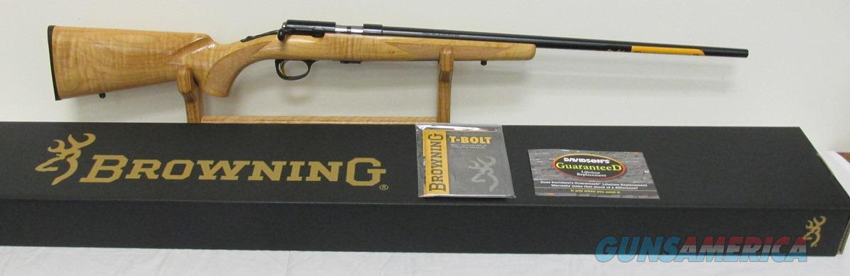 Browning T Bolt Sporter Maple 22LR #025207202  Guns > Rifles > Browning Rifles > Bolt Action > Hunting > Blue