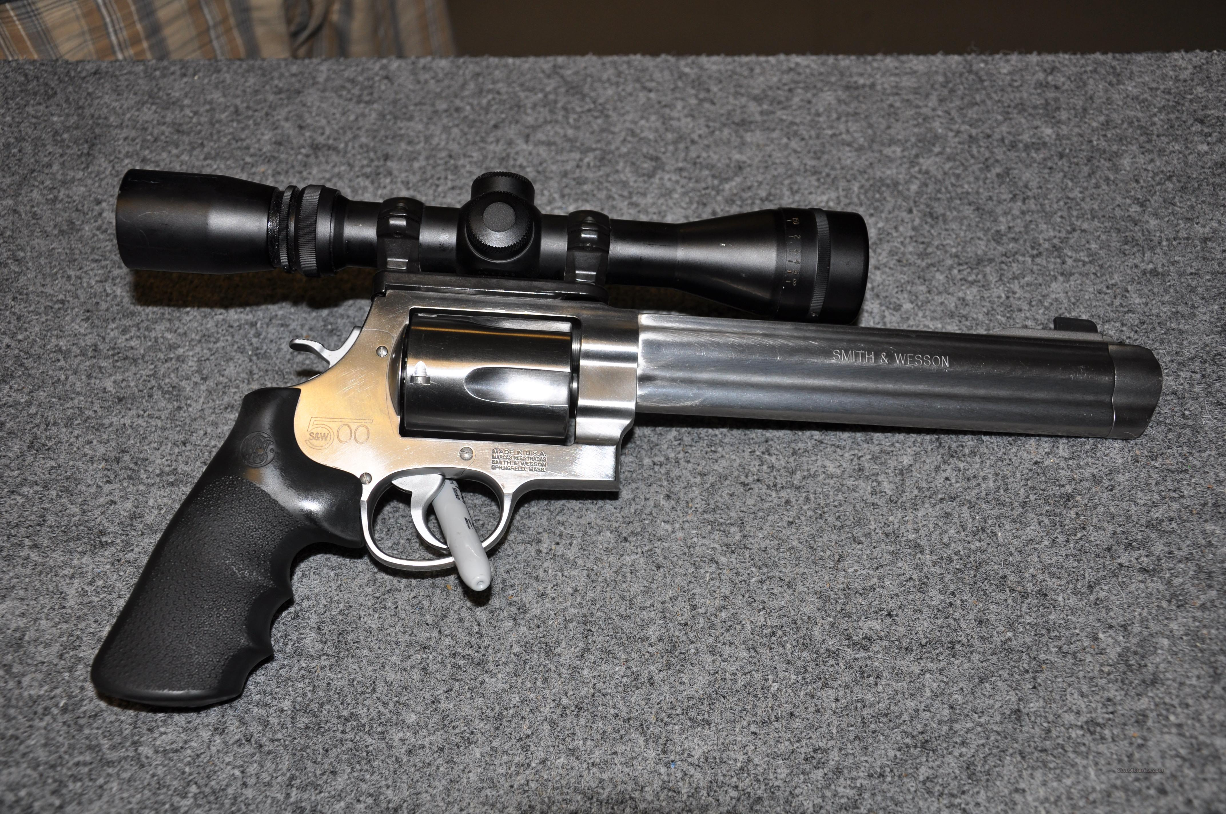 "S&W 500 Magnum 8&3/8""  Guns > Pistols > Smith & Wesson Revolvers > Full Frame Revolver"