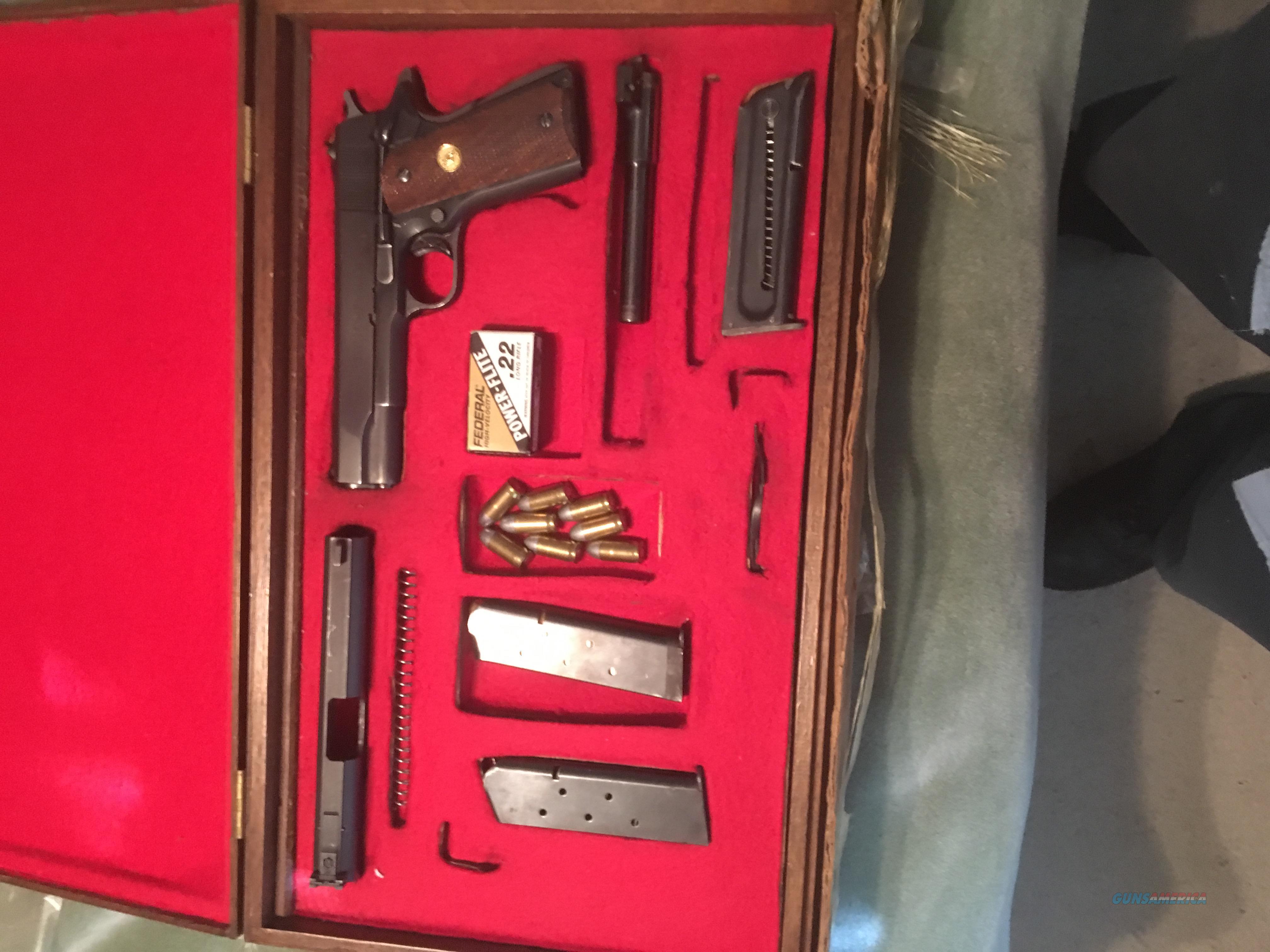 Colt 1911 A1 commercial,with 22 coversion,presentation case  Guns > Pistols > Colt Automatic Pistols (1911 & Var)