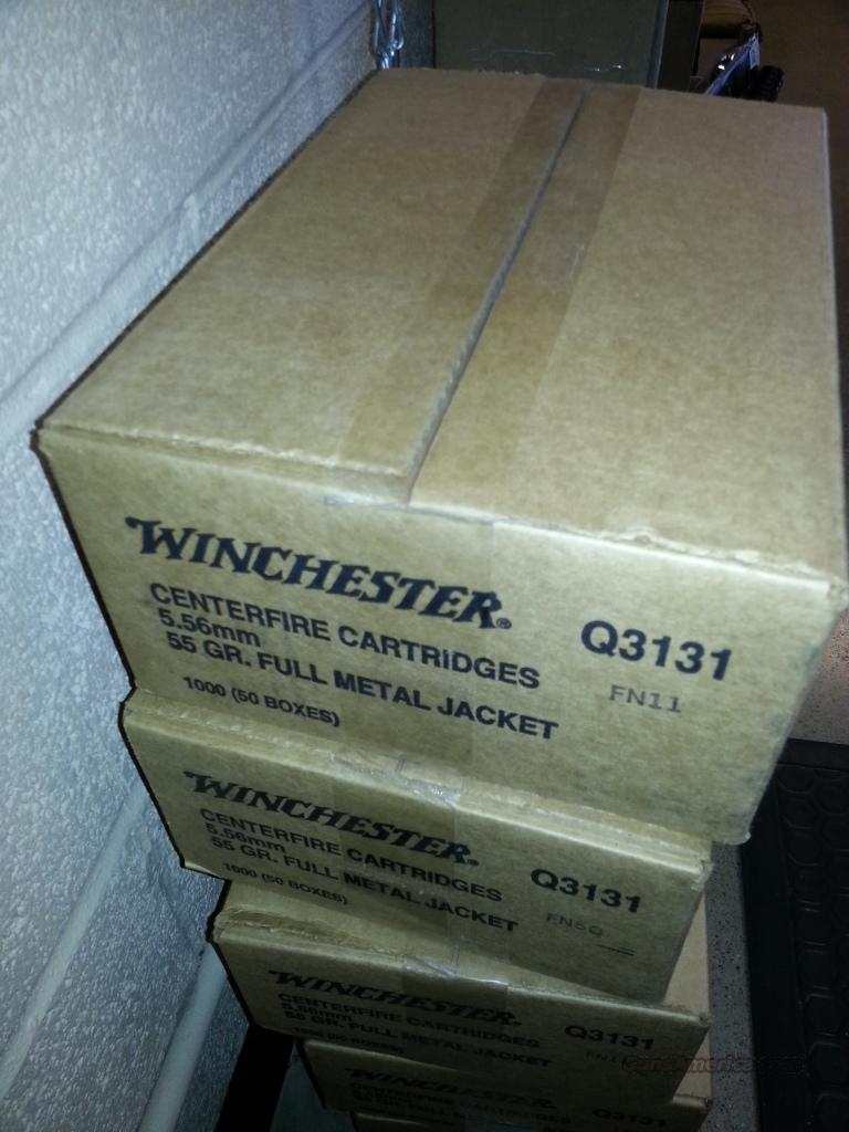 Winchester 5.56 556 ammo 1000 round case NOT 223 NOT PMC NOT Federal ammo  Non-Guns > Ammunition