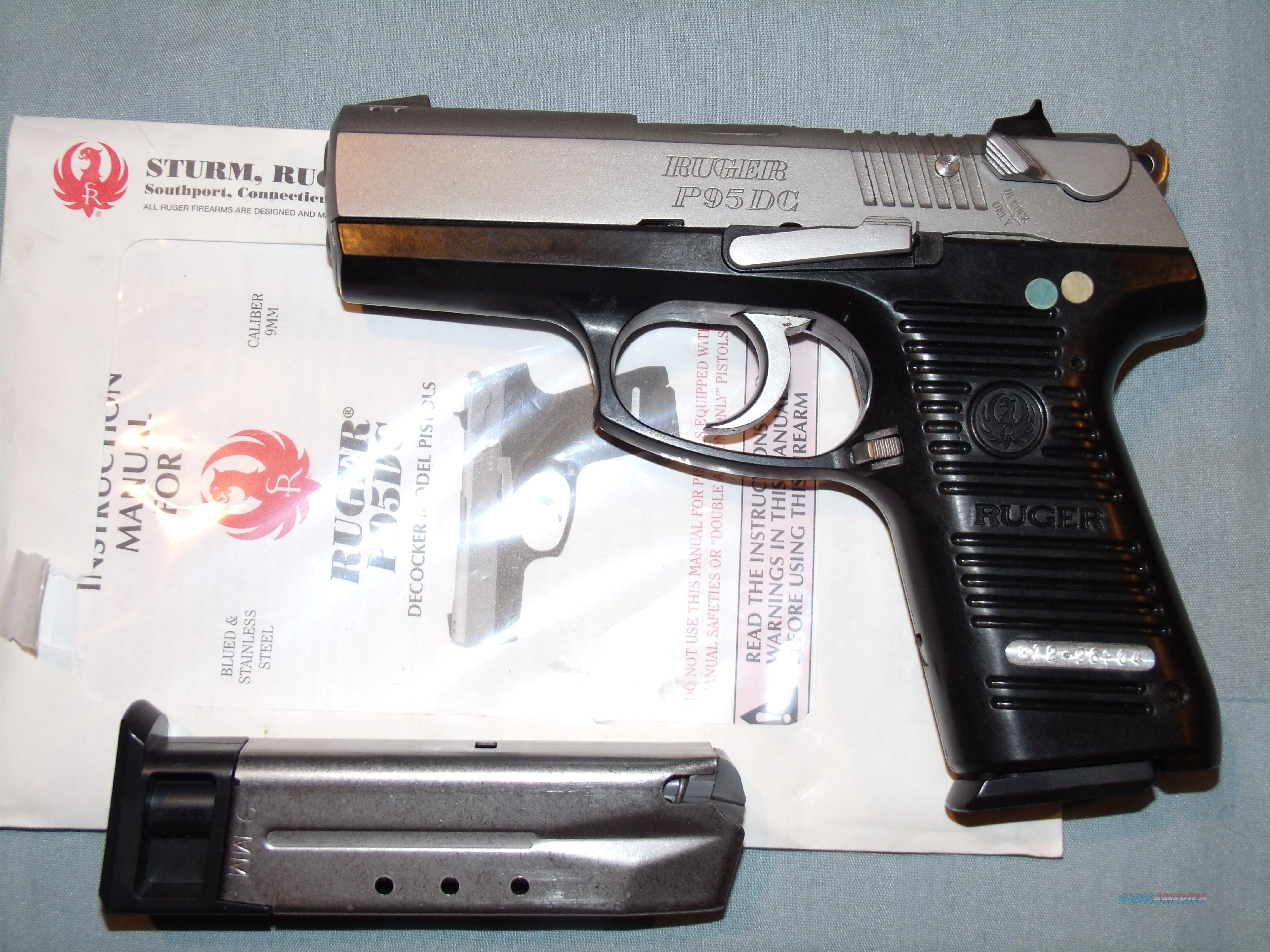 RUGER  P95DC  9MM STAINLESS  Guns > Pistols > Ruger Semi-Auto Pistols > P-Series