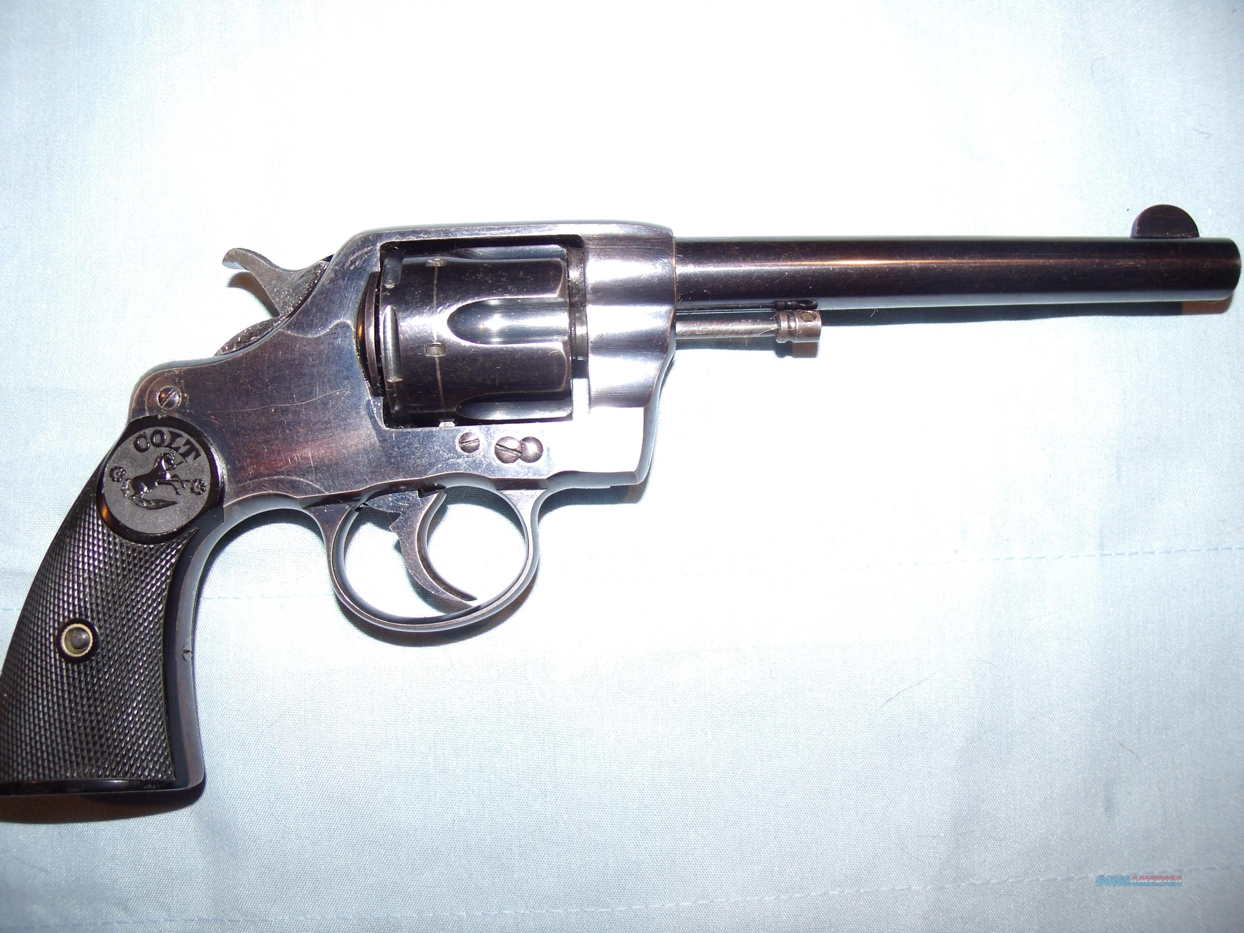 """COLT 1895 NEW ARMY .38 LONG COLT  ,6""""  Guns > Pistols > Colt Double Action Revolvers- Pre-1945"""