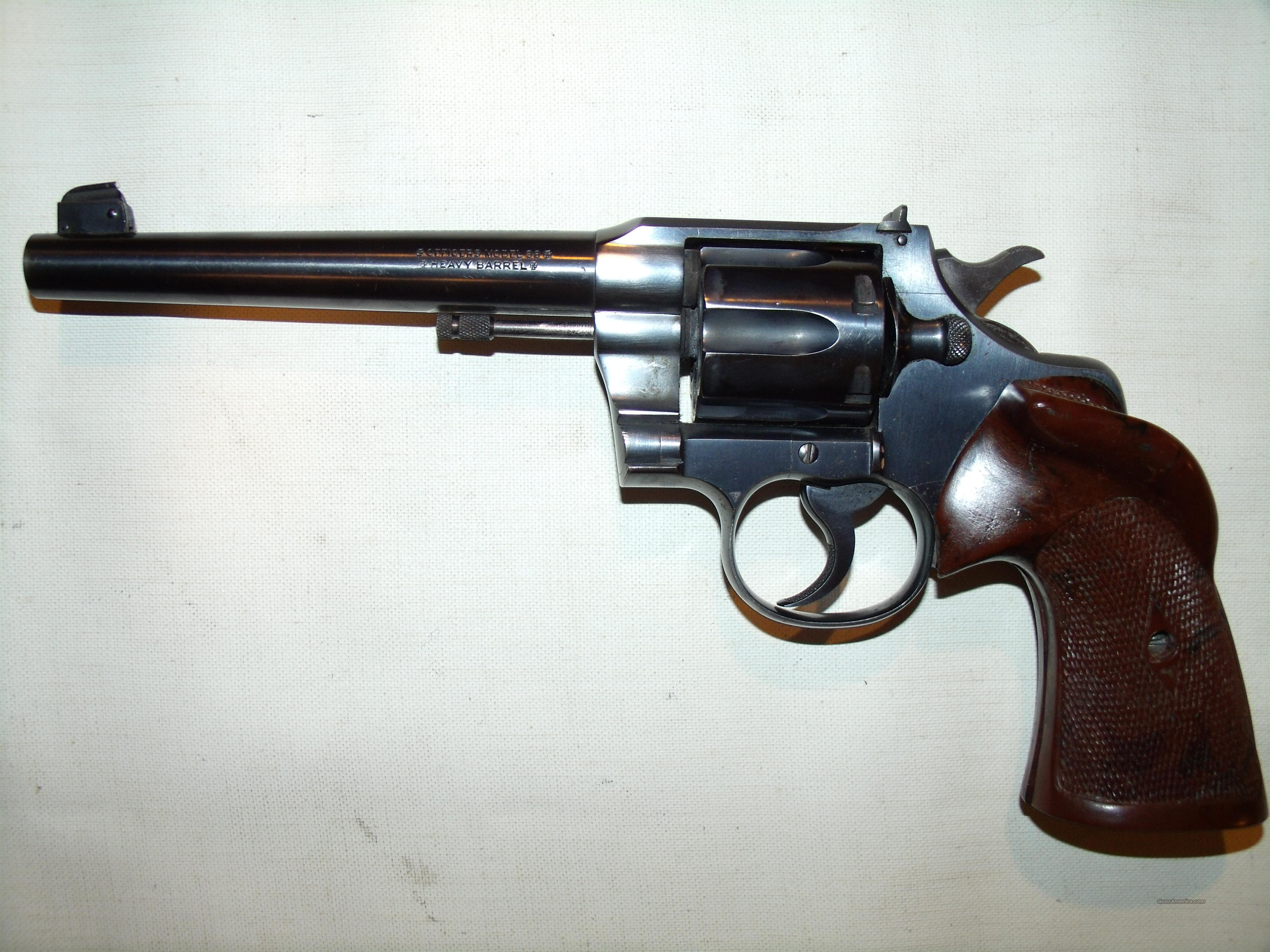 Colt ,Officer's Model Target(3rd issue) .38SPL  Guns > Pistols > Colt Double Action Revolvers- Modern