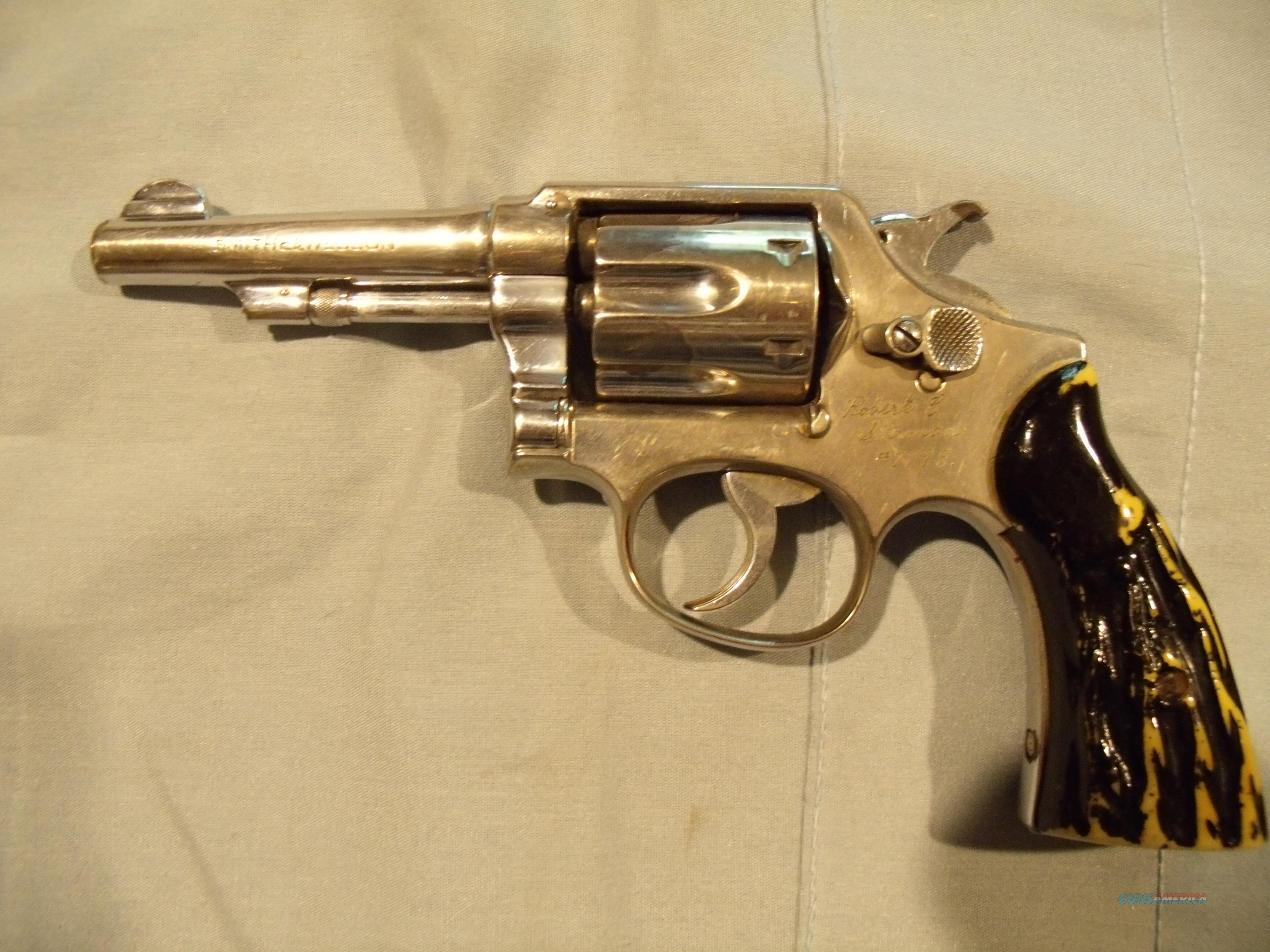 S&W MODEL 10- MILITARY & POLICE,  NICKEL , .38 SPECIAL  Guns > Pistols > Smith & Wesson Revolvers > Model 10