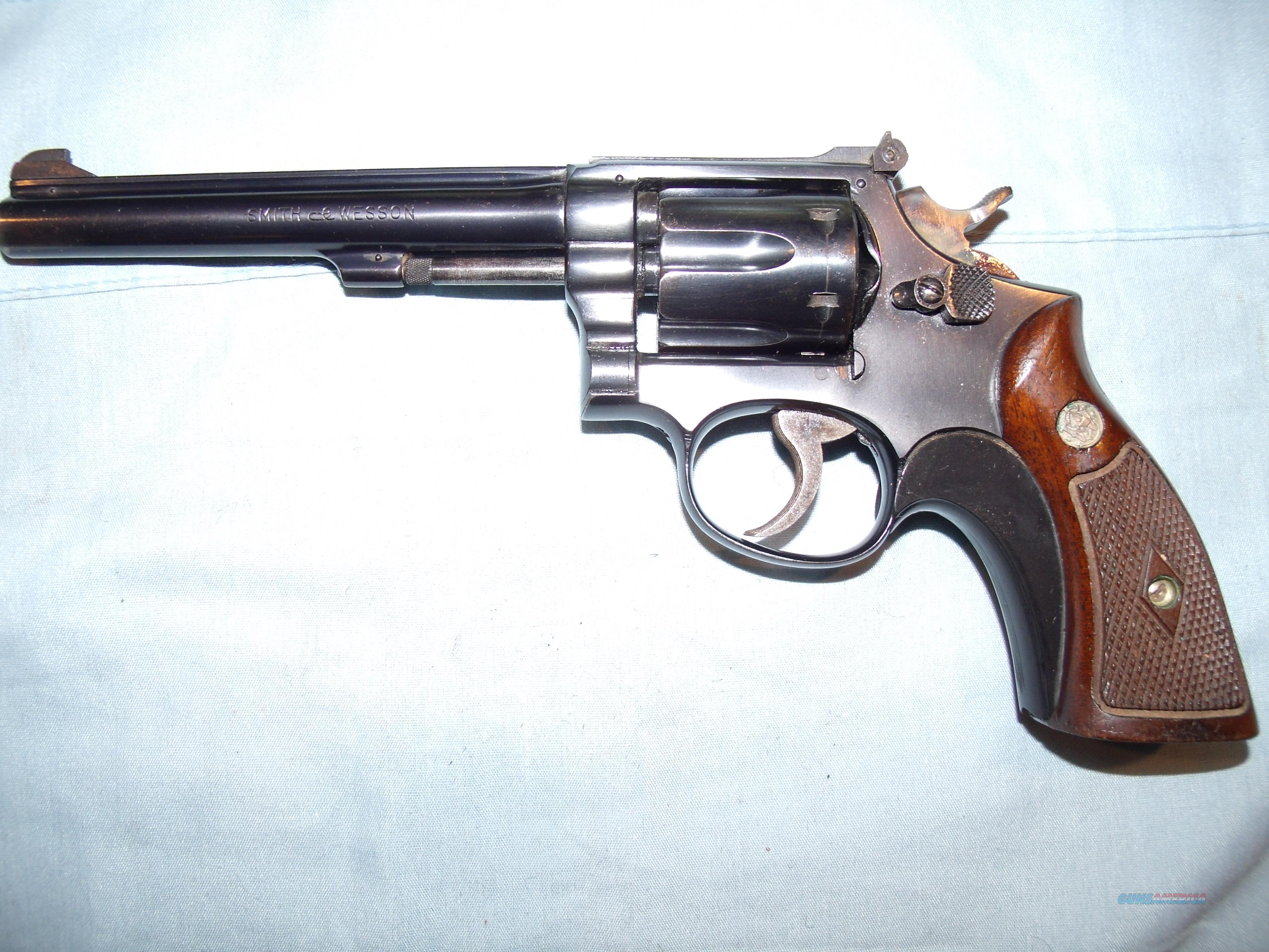 S&W MODEL 17 -K-22 MASTERPIECE MFG 1948  Guns > Pistols > Smith & Wesson Revolvers > Med. Frame ( K/L )