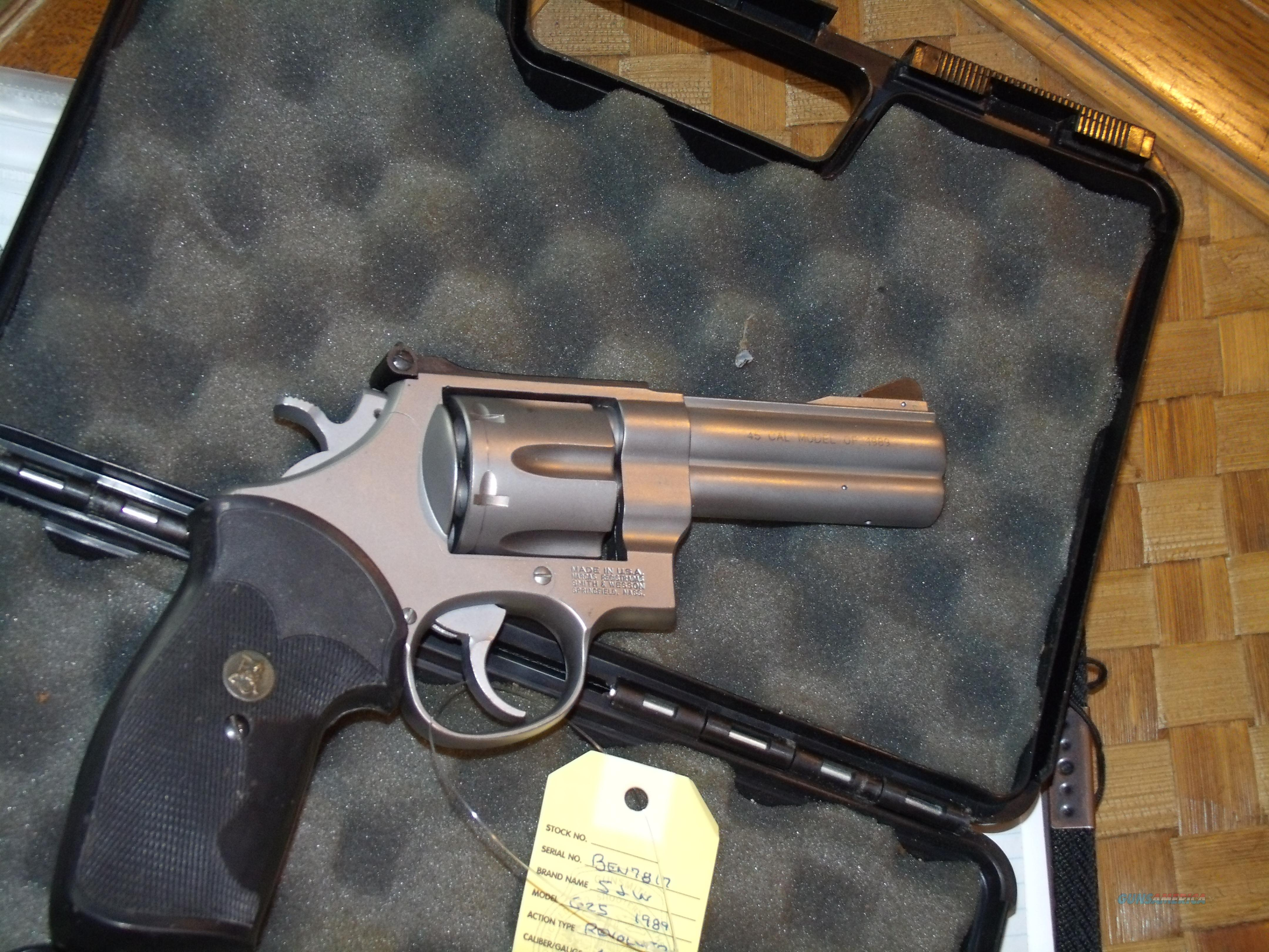 S&W M625 STAINLESS  .45 ACP  Guns > Pistols > Smith & Wesson Revolvers > Full Frame Revolver