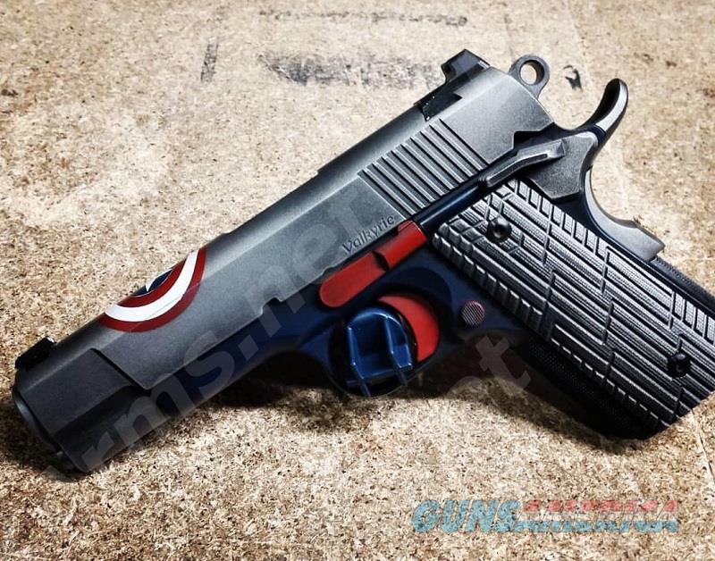 DW 01966 Valkyrie Capt. America .45acp FreeShip  Guns > Pistols > Dan Wesson Pistols/Revolvers > 1911 Style