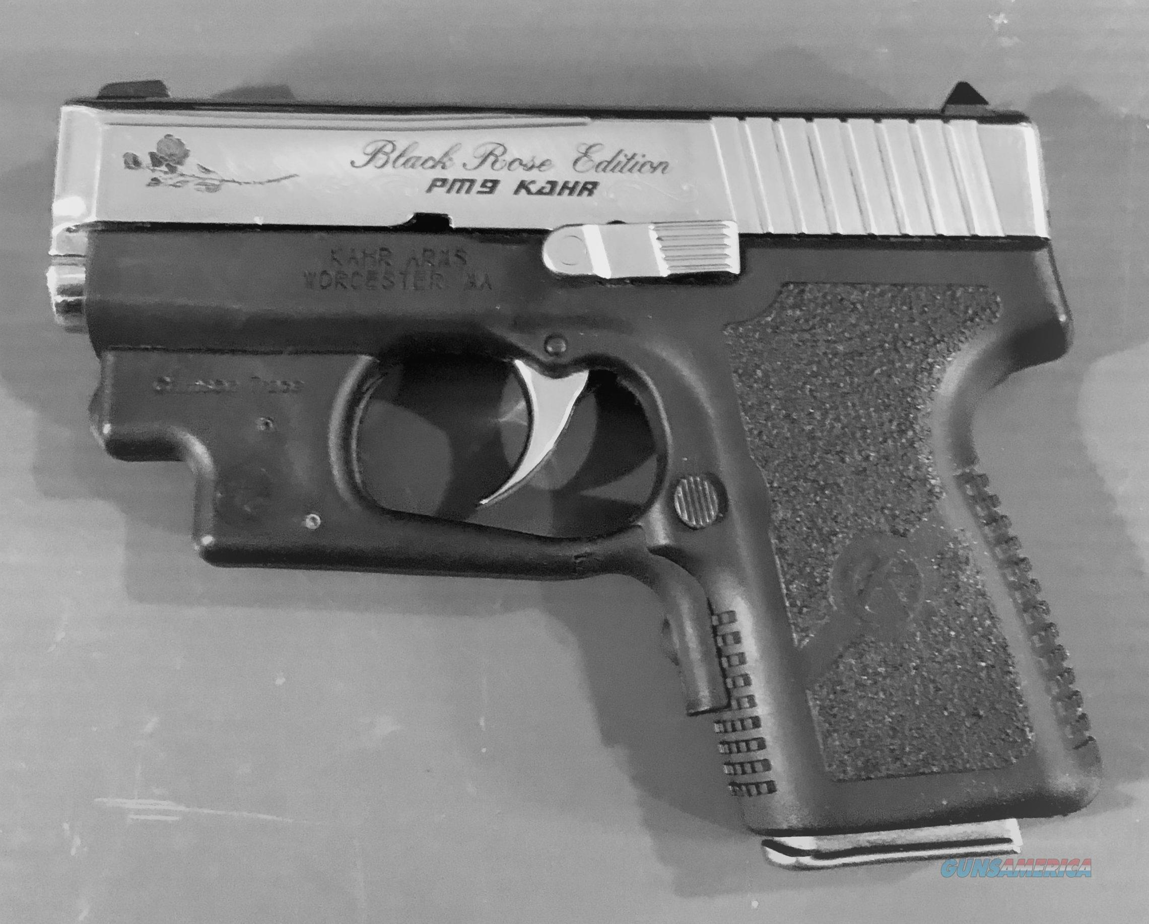 BLACK ROSE KAHR PM9 9mm # IE7564 LIKE NEW WITH CRIMSON TRACE LASER GRIP  Guns > Pistols > Kahr Pistols
