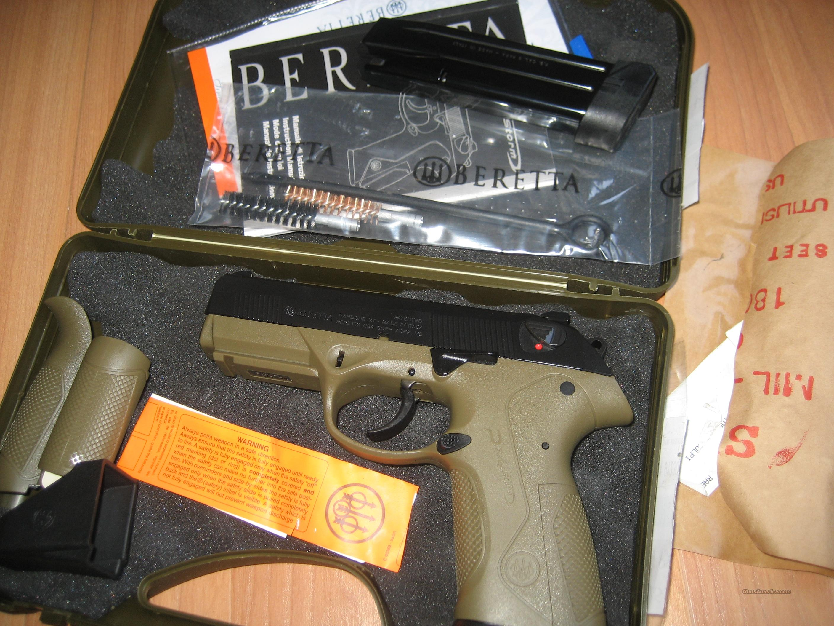 Beretta PX4 Storm 9mm - Factory Upgrades! - Type G, Beretta Factory Trigger Job, Beretta Stealth Decocker, O.D. Green!  Guns > Pistols > Beretta Pistols > Polymer Frame
