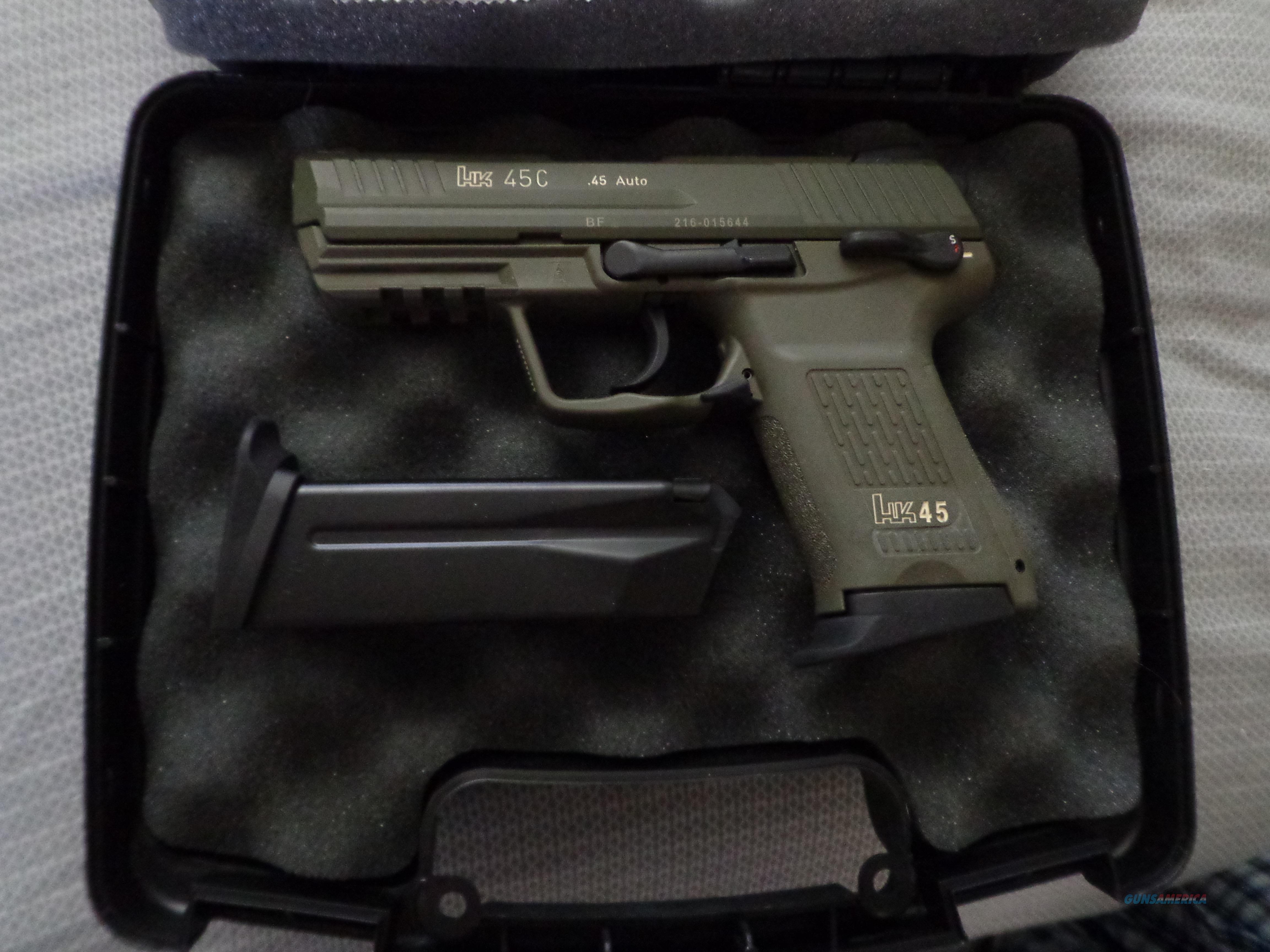 RARE Heckler & Koch H&K HK45 C Compact OD Green 45 NIB  Guns > Pistols > Heckler & Koch Pistols > Polymer Frame