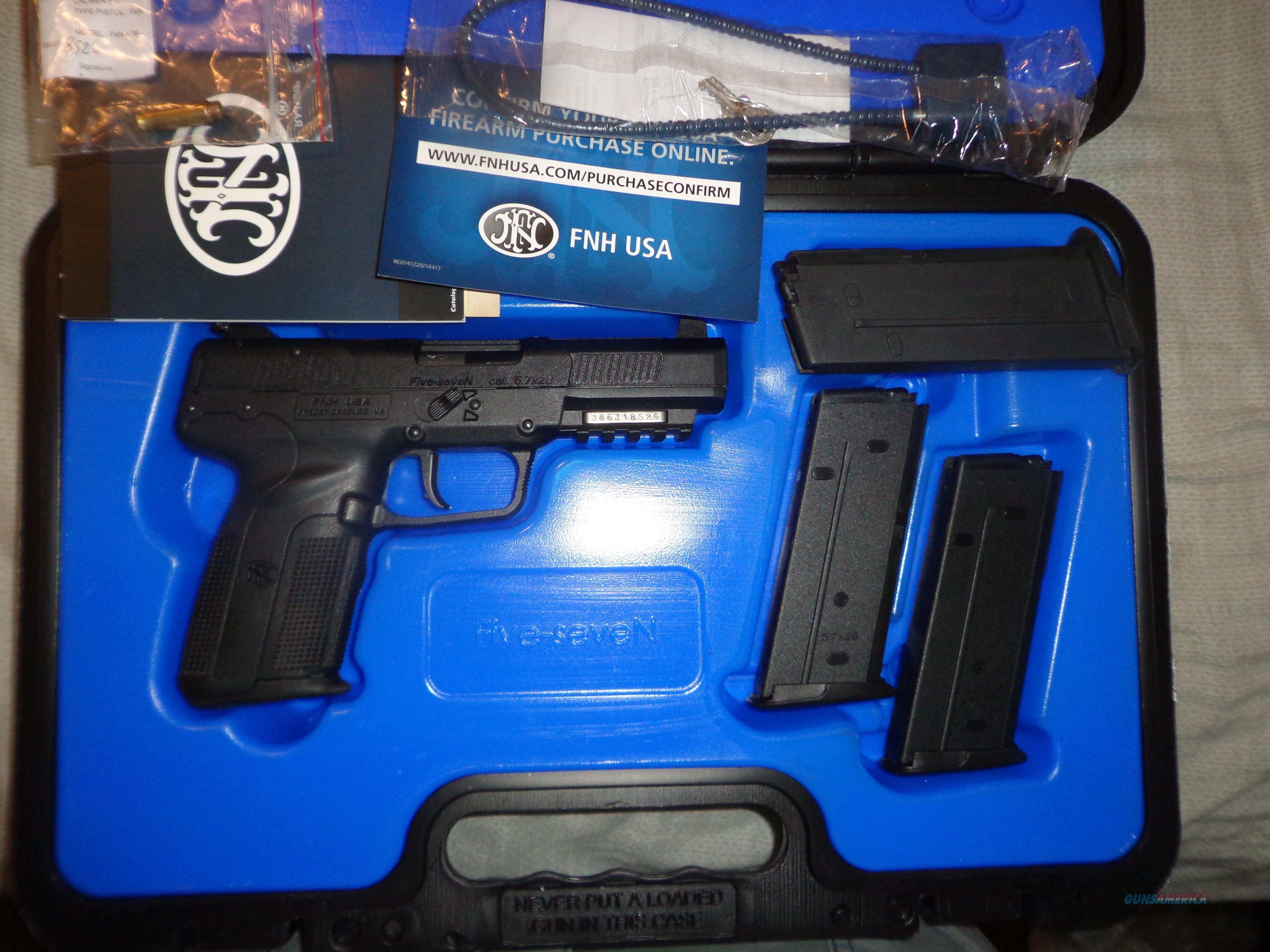 FNH Five Seven MK II 5.7 x 28mm Black 20rnd  Guns > Pistols > FNH - Fabrique Nationale (FN) Pistols > FiveSeven