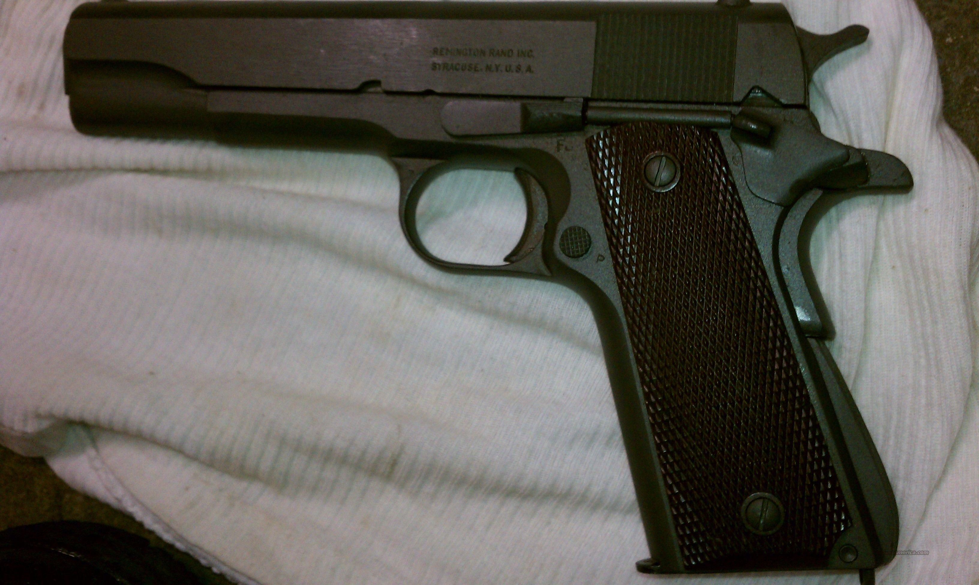 Remington Rand M1911 A1  Guns > Pistols > Military Misc. Pistols US > 1911 Pattern