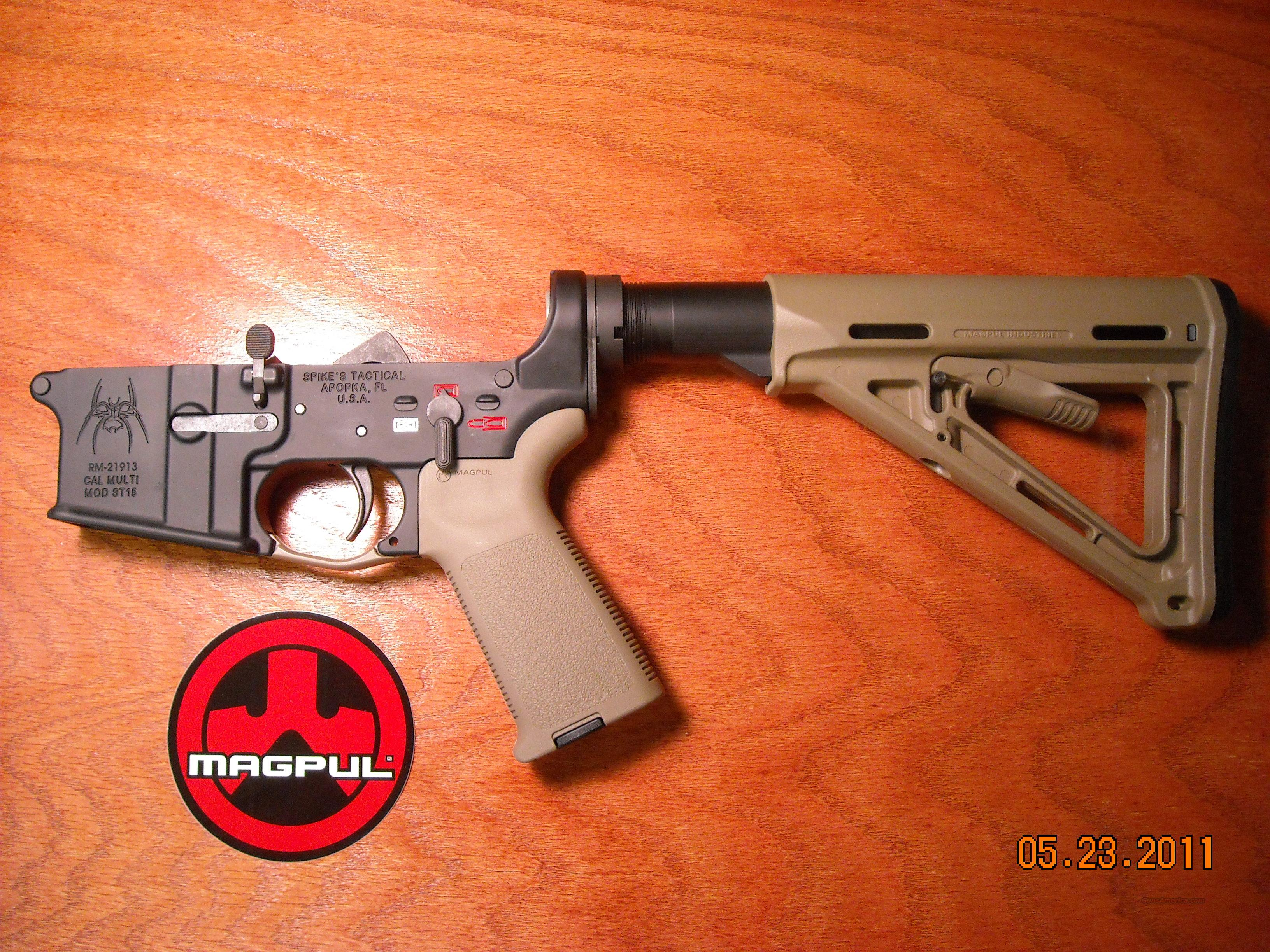 Spikes Tactical AR-15 Lower MAGPUL TAN COLORED!!  Guns > Rifles > A Misc Rifles
