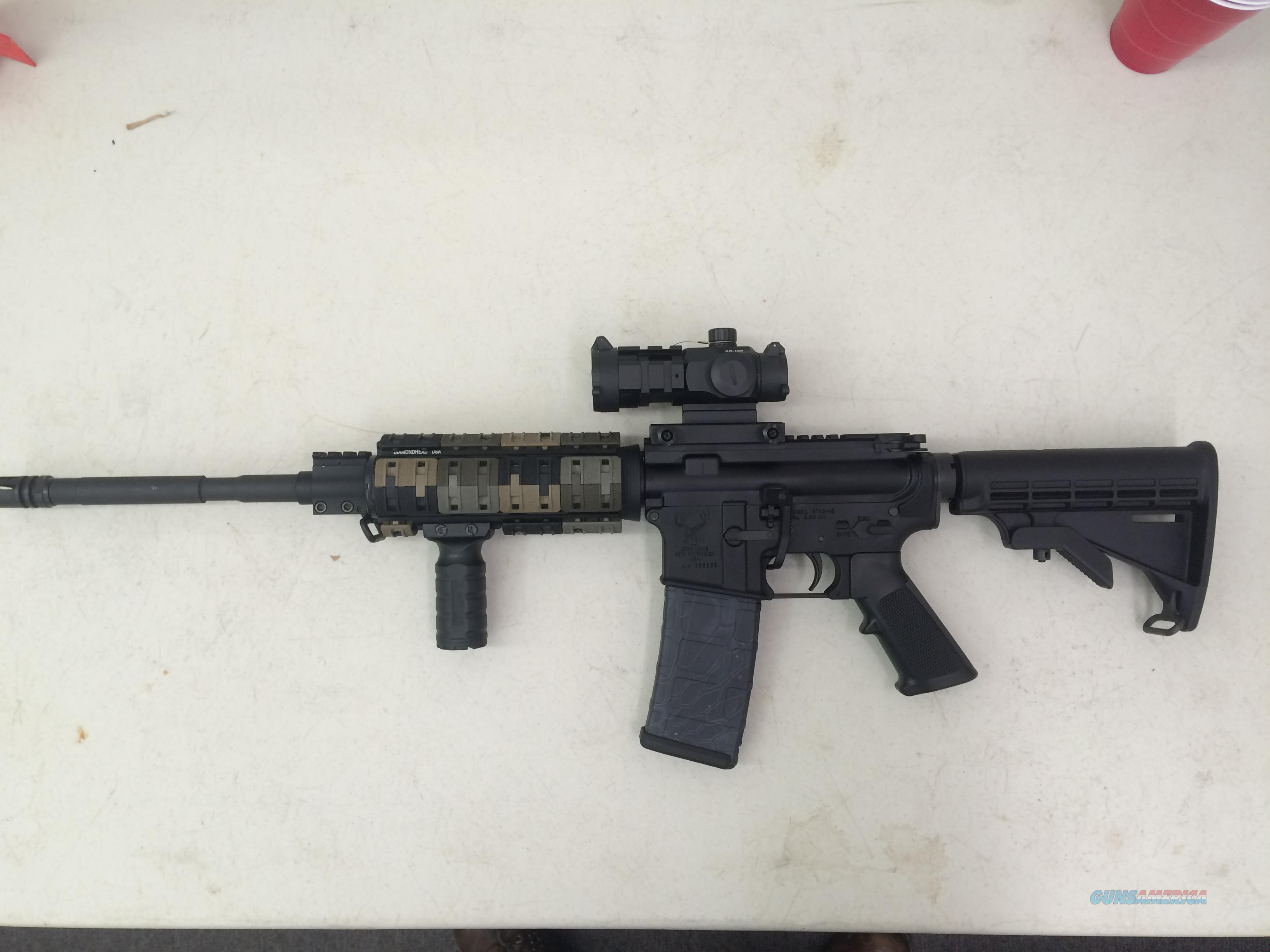 Stag Arms Stag-15 with Burris AR-132 and quad rail  Guns > Rifles > Stag Arms > Complete Rifles