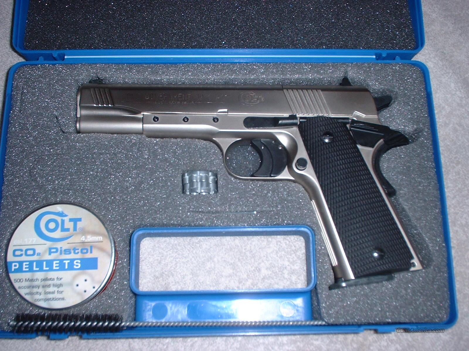 Colt 1911-A1 Nickel Finish .177 Pellet Co2 Pistol, Original Colt Marketed Model, Not Umarex -PRICED REDUCED FOR X-MAS- SAME DAY EXPRESS SHIPPING  Non-Guns > Air Rifles - Pistols > CO2 Pistol