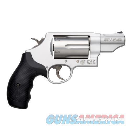 S&W GOVERNOR - MODEL #160410 - SCANDIUM FRAME - STAINLESS PVD CYLINDER - .410 BORE  45 COLT  45 ACP - MODEL 160410  Guns > Pistols > Smith & Wesson Revolvers > Full Frame Revolver